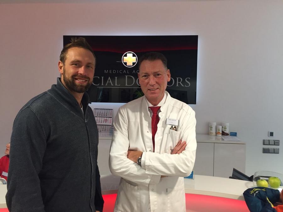 Dr. Karsten Labs und Robert Harting